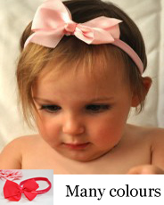 grosgrain bow baby headband