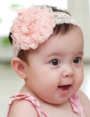 Vintage Lace Rose Flower Baby Headband
