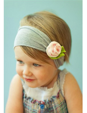 Luxury stretch fabric rose headband