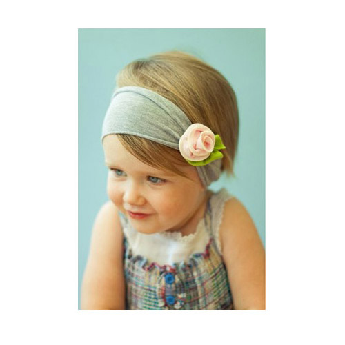 Luxury stretch fabric rose headband