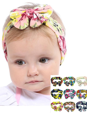 Grosgrain Bow On Comfort Fit Baby Headband