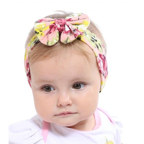 Grosgrain Bow On Comfort Fit Baby Headband