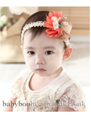 Flower and Bow Baby Headband