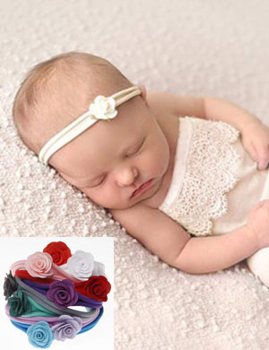 Petite Mini Flower Newborn Baby Headband