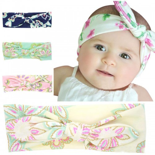 Floral topknot baby headband collection