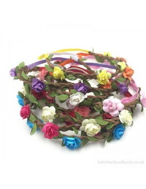 Stretch Summertime Flowers Headband