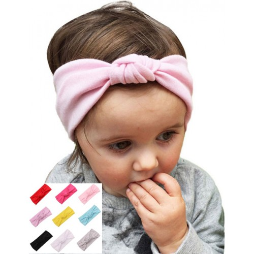 Vintage Turban Knot Stretch Fabric Baby Headband