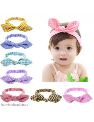 Luxury Patterned Retro Rabbit Ears Comfort Stretch Baby Headband