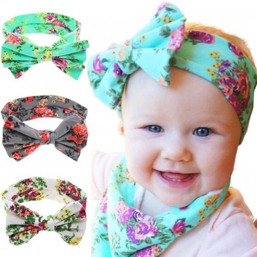Luxury Floral Retro Baby Headband