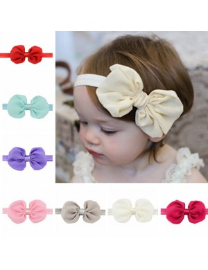 Shimmery Stretch Headband & 4inch Chiffon Bow Baby Headband