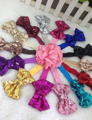 Super Sequin 4-inch Boutique Bow Baby Headband