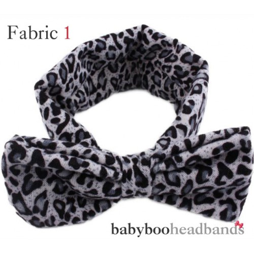 Luxury Leopard Print Retro Bow Baby Headband