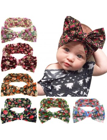 Luxury Soft Floral Bow Baby Headwrap Headband