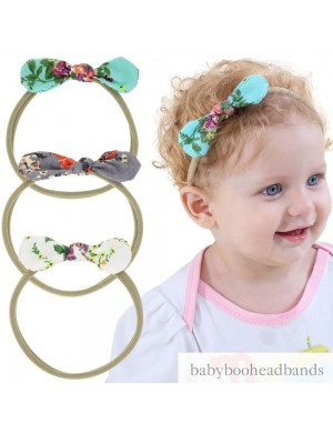 Super Comfy Floral Mini Bow Baby Headband