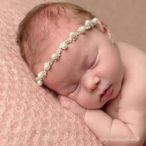 Luxury Collection Pearl Rhinestone Baby Headband