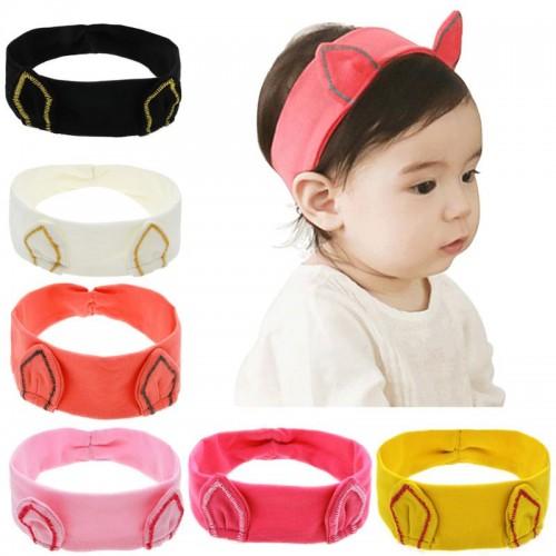 Comfy Cat Ears Stretch Fabric Baby Headband