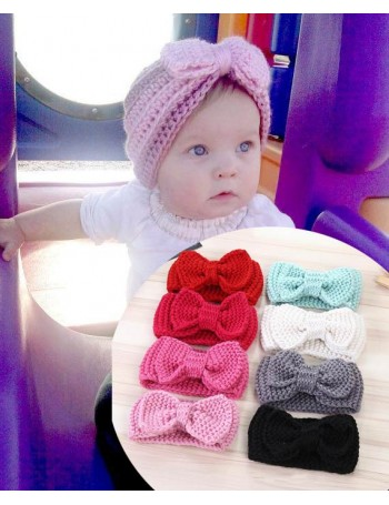 Luxury Knitted Handmade Bow Baby Headwrap