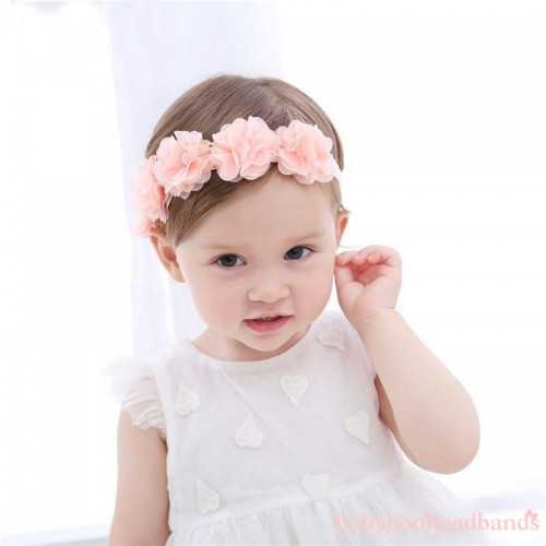 Luxury Special Occasion Floral Crown Baby Headband