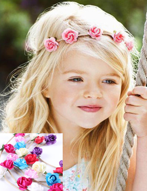Gorgeous Flower Garland Baby Headband