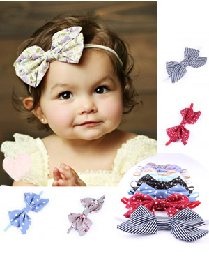 Brushed Cotton Luxury Bow Baby Headband