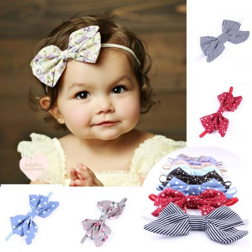 Brushed Cotton Luxury Bow Baby Headband
