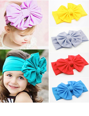 Adorable Comfort Fit Oversize Boutique Bow Headwrap