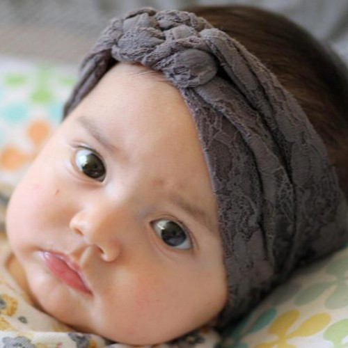 Vintage Lace Turban Knot Baby Headband