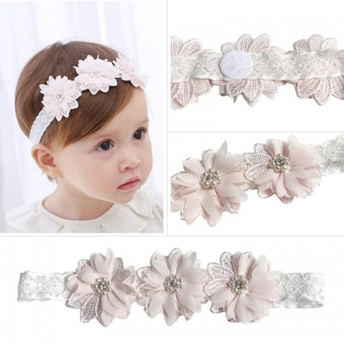 Luxury Triple Flower Special Occasion Headband