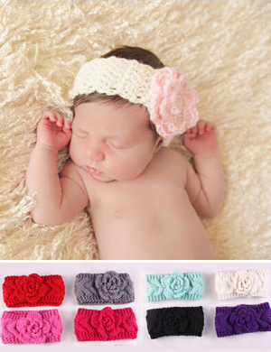 Luxury Handmade Wooly Rose Headwrap