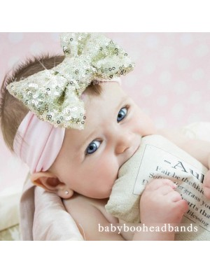 Comfort Fit Super Sequin Bow Headband