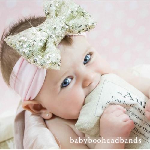 Comfort Fit Super Sequin Bow Headband
