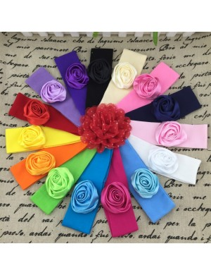 Silk Rose On Comfort Fit Baby Headband