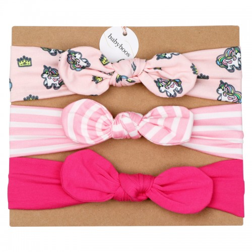 Luxury Top Knot Headband Set - Unicorn Delight