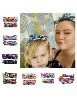Mum & Me Luxury Fabric Floral Top Knot Headwrap Set