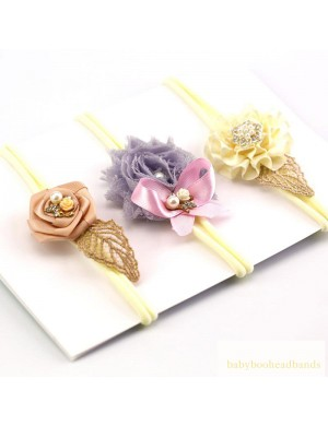 Luxury Intricate Flower Baby Headband Set