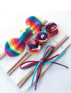 Vibrant Love Baby Headband Set