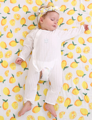 Lemon Love - Matching Swaddle Blanket and Headband Set