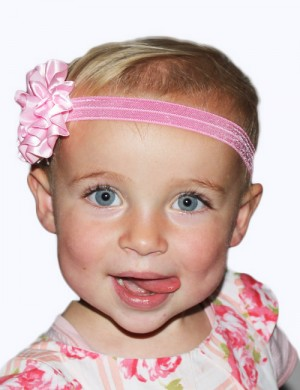Stretch Baby Headband with Satin Flower