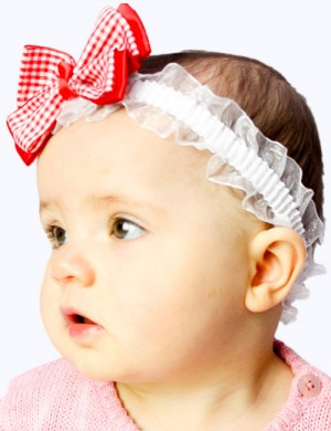 Big Bowknot Lace Elastic Baby Headband