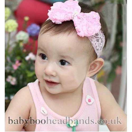 Big Chiffon and Tulle Bow Baby headband