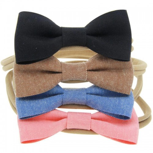 Luxury Set - Denim Boutique Bow Headbands