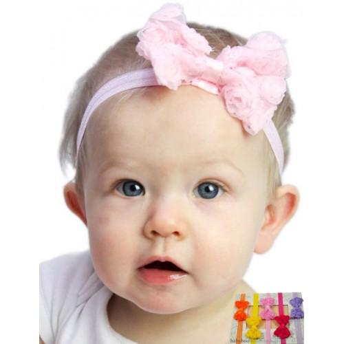 Small Chiffon Tulle Bow Baby Headband  69692e4783b