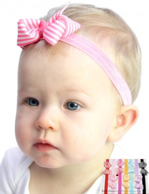 Lollipop bow baby headband