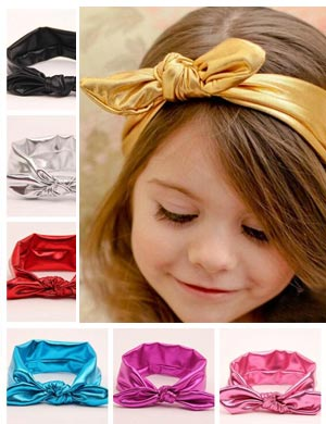 Luxury Top Knot Vibrant Shimmer Baby Headband
