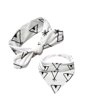 Luxury Bandana Bib and Headband Set - Teepee