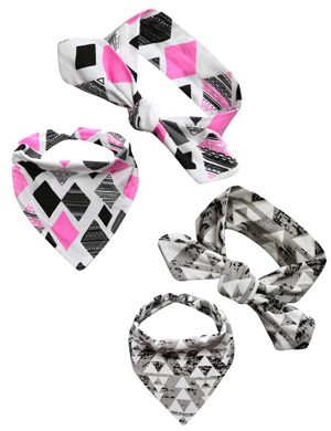 Triangle Style Luxury Headband & Bandana Bib Collection