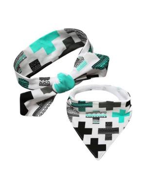 Luxury Wool Lined Bib & Baby Headband - Positively Greek
