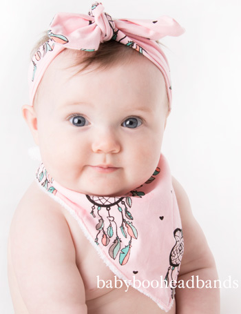Luxury Bib & Baby Headband - Dreamcatcher