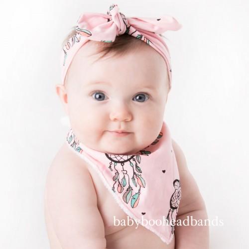 Luxury Bib & Baby Headband - Dreamcatcher