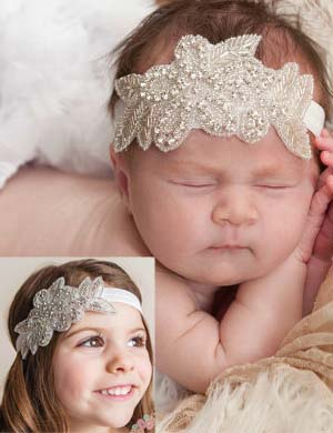 Ava - Luxury Sparkle Flower Baby Headband